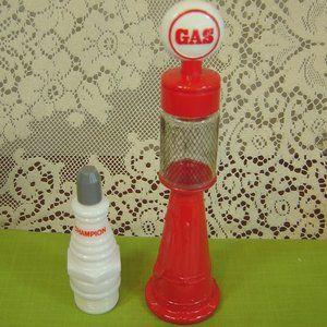 2 vintage Avon bottles Spark Plug & Gas Pump